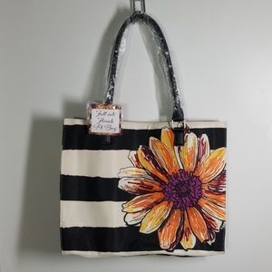 Arcadia Beauty Fall Into Florals Tote Bag NWT